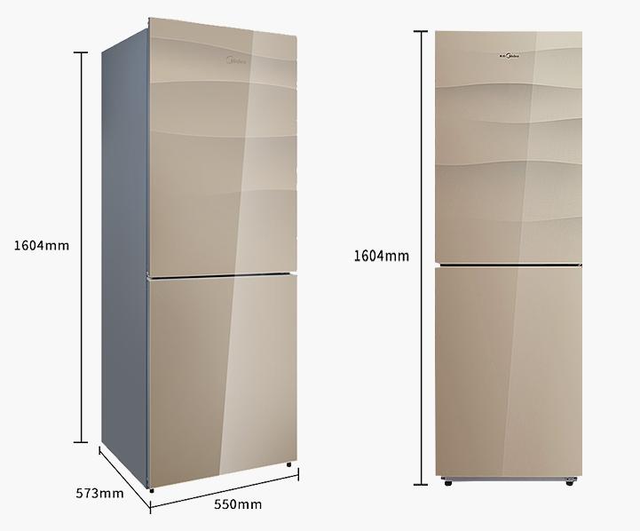 美的 冰箱 BCD-186WGM   晨光金