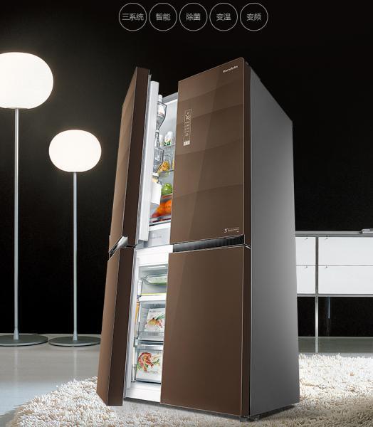 美的 冰箱 BCD-646WGPZV 格调咖