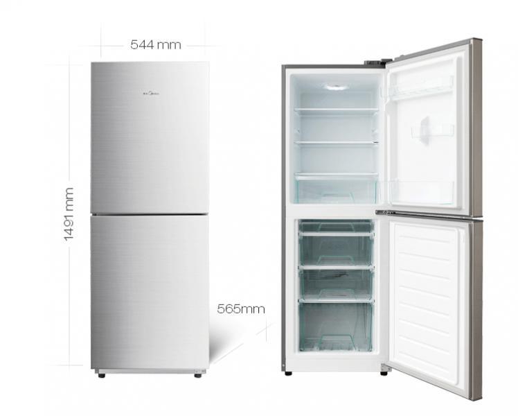 美的 冰箱 BCD-175M     极光银